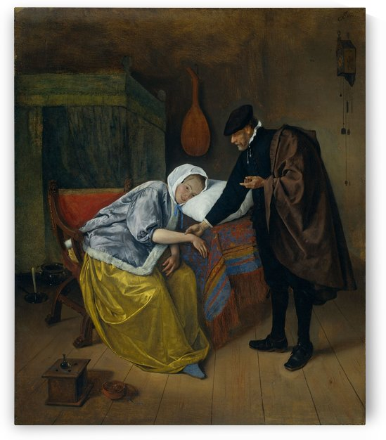 Steen Doctor and His Patient by Jan Steen