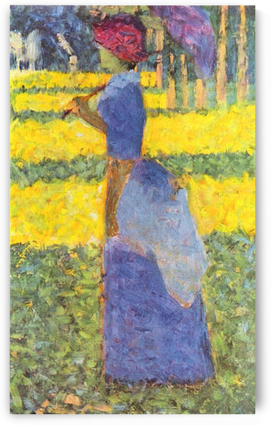 Woman with Parasol by Seurat by Seurat