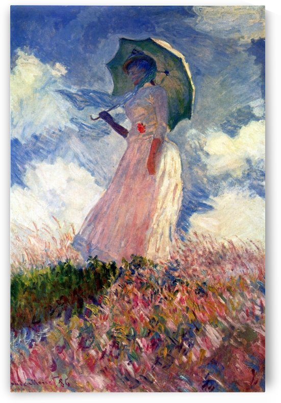 Woman with Parasol, study by Monet by Monet