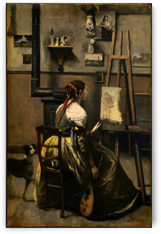 The Artists Studio by Jean-Baptiste-Camille Corot