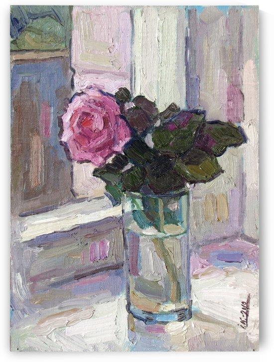Rose in the Glass by Ivan Kolisnyk