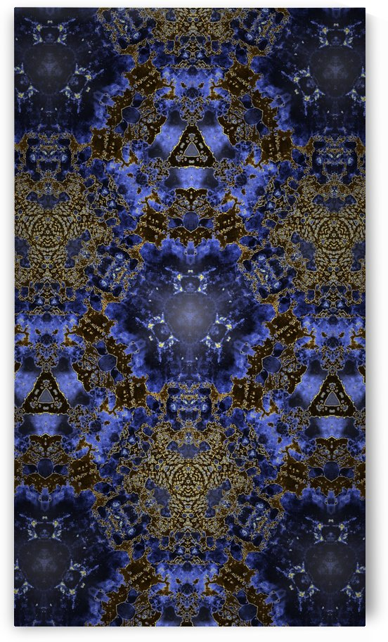 Goldish Blue Kaleidoscope  by Jeremy Lyman