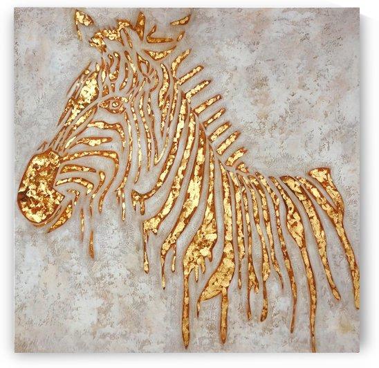 Gold Zebra by Yurovich Gallery