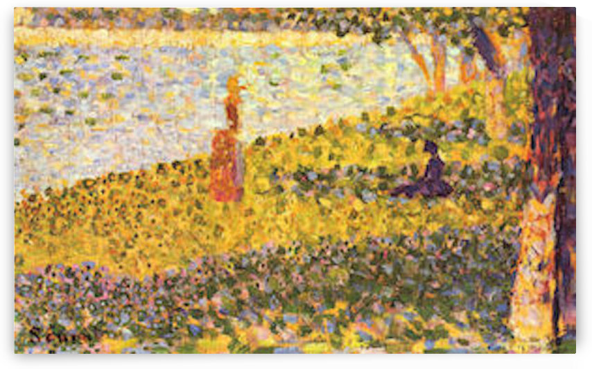 Women on the shore by Seurat by Seurat
