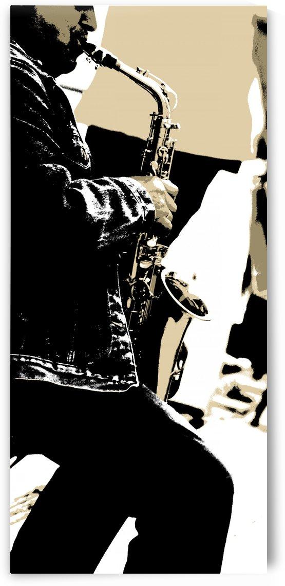 Saxophonist by Kirsten Warner