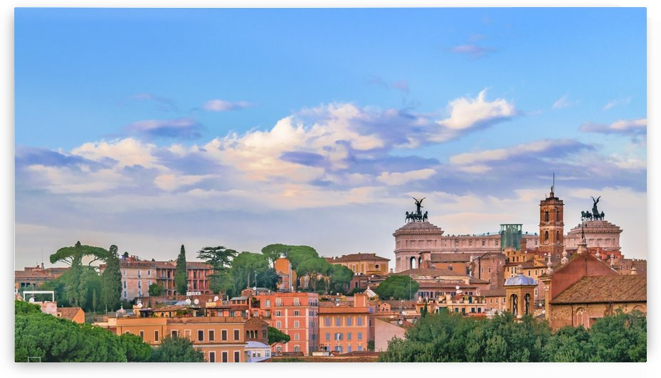 Aerial View Rome Cityscape by Daniel Ferreia Leites Ciccarino