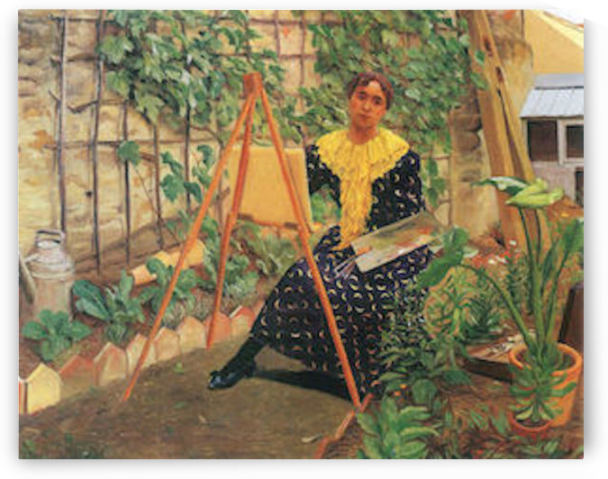 Young woman painting by Felix Vallotton by Felix Vallotton