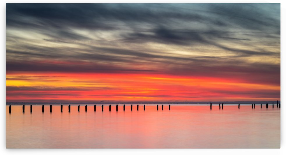 Striking Sunset at Clifton Springs by Grant Cookson