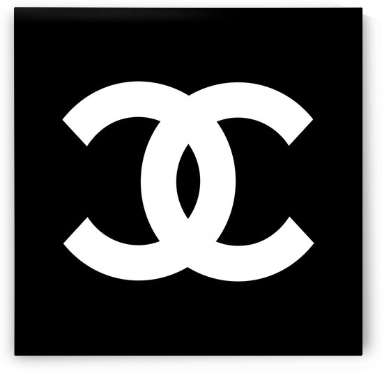 Chanel Symbol Black White by Edit Voros