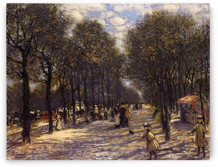 Lane of Trees on the Champs-Elysees by Jean-Francois Raffaelli