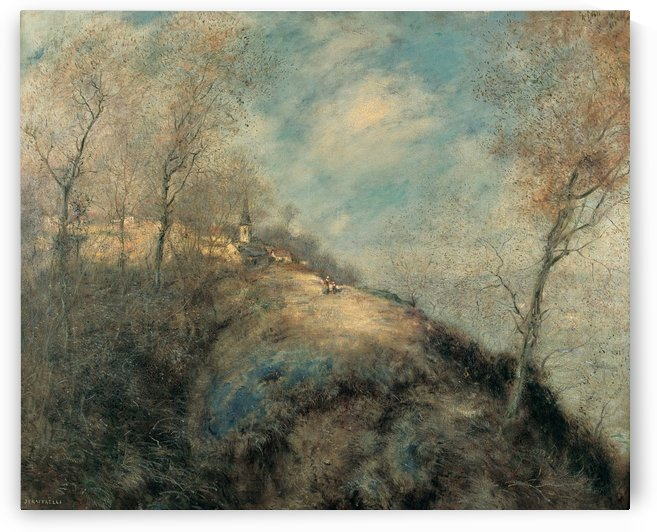 La ruta abandonada by Jean-Francois Raffaelli