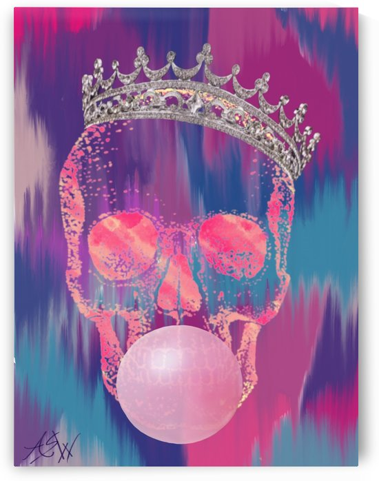 Bubblegum Skull by WhiteOut Artwork