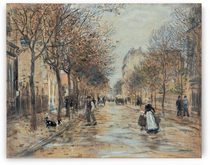 Street in Asnieres by Jean-Francois Raffaelli