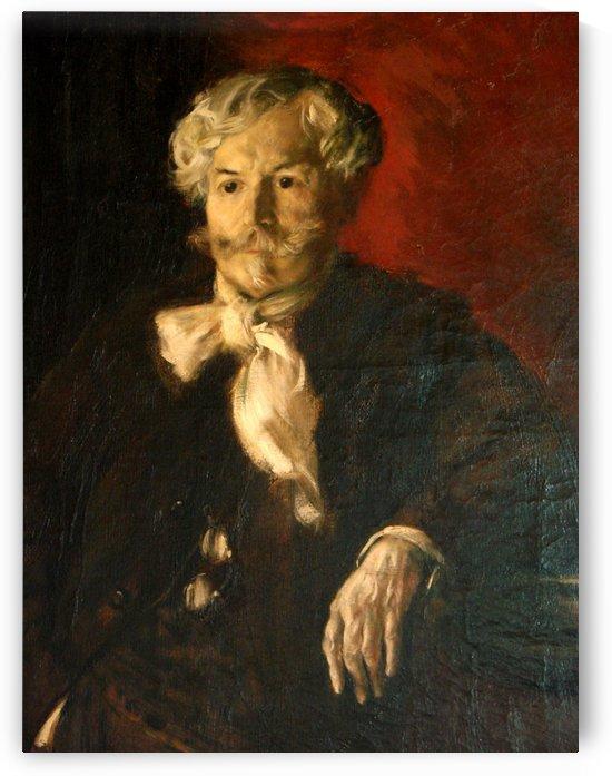 Edmond de Goncourt by Jean-Francois Raffaelli