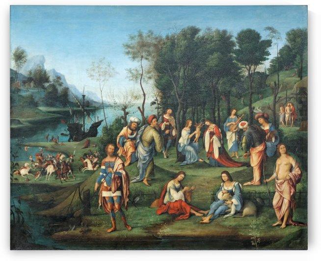 Allegorie de la cour d Isabelle d Este by Lorenzo Costa