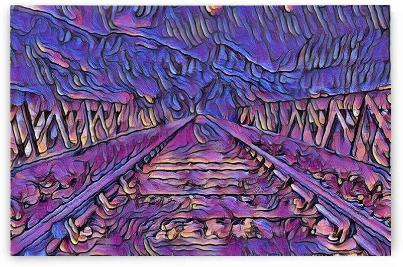 Railway 1 Purple Monster by One Simple Gallery