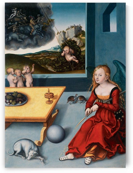 Die Melancholie by Lucas Cranach the Elder