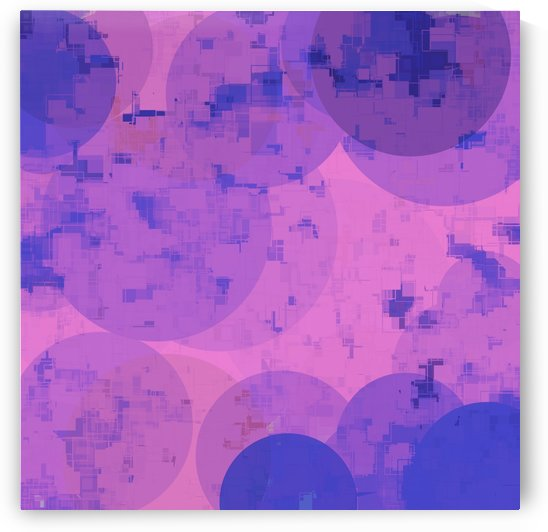 geometric circle and square pattern abstract in pink purple by TimmyLA