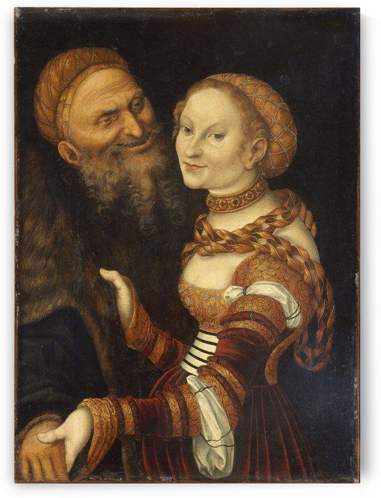 Courtesan and old man by Lucas Cranach the Elder