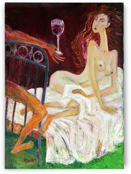 04.IN BED 2013year oil on canvas 50x70 cm4000$ by ZAKIR AHMEDOV