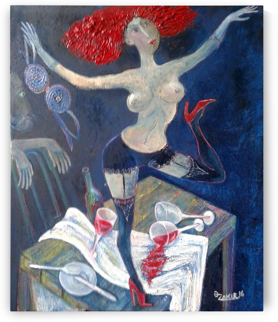 11.Cabaret 2016yea 60x50cmOriginal Painting Oil on Canvas 4500$ by ZAKIR AHMEDOV
