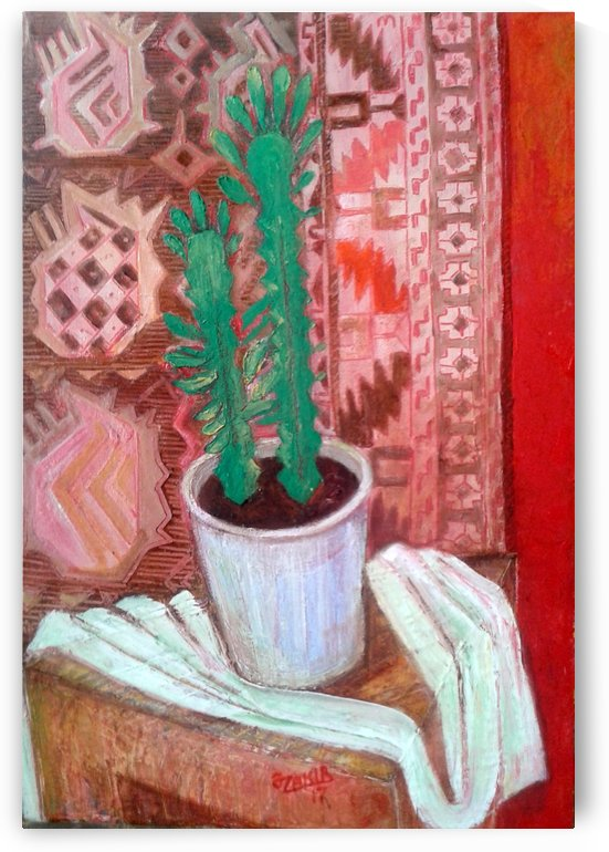 36.Cactus.2017 year  Original Painting Oil on Canvas 50 x 35 cm.1500$ by ZAKIR AHMEDOV