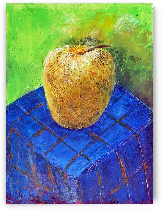 08.APPLE2014year oil on canvas 30X40 cm1500$ by ZAKIR AHMEDOV