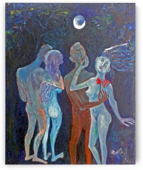 10.Moonlight Night 2016year60x50cm Original Painting Oil on Canvas 4000$ by ZAKIR AHMEDOV