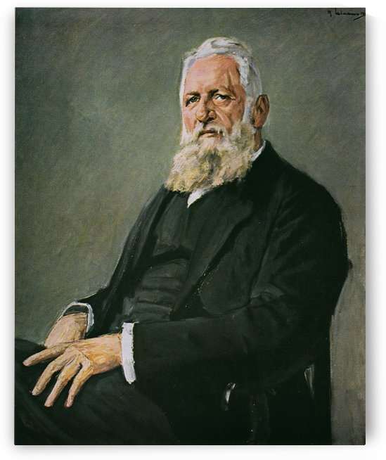 Franz Adickes by Max Liebermann by Max Liebermann