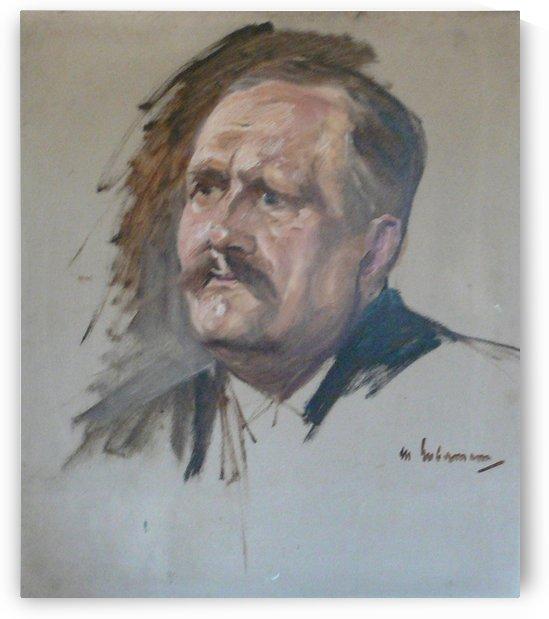 Skizze zum Portrat Friedrich Naumann by Max Liebermann