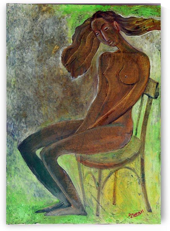 06.Meditation 2013year oil on canvas 50x70 cm3500$ by ZAKIR AHMEDOV