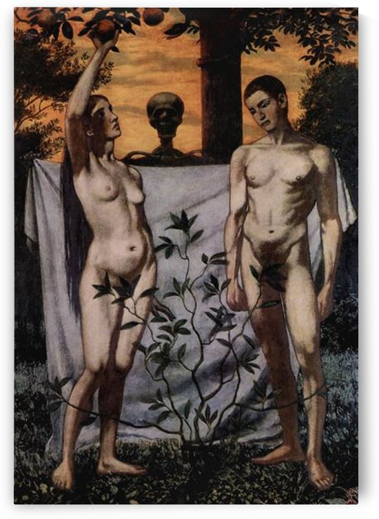 Adam and Eve by Hans Thoma by Hans Thoma