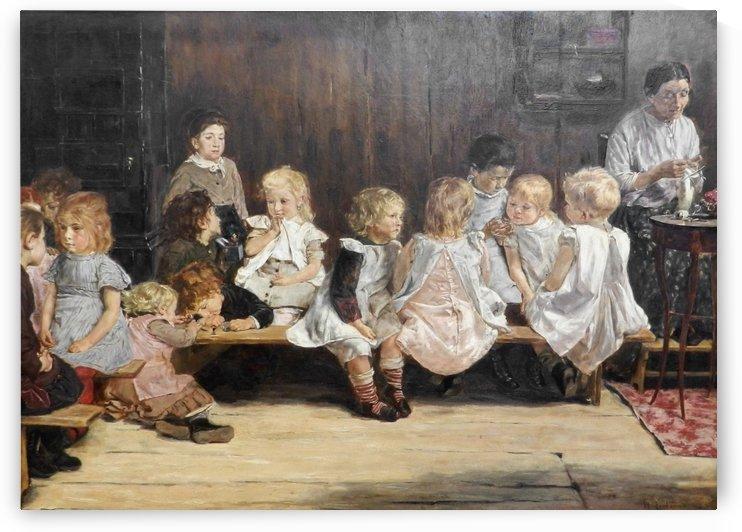 Kleinkinderschule by Max Liebermann