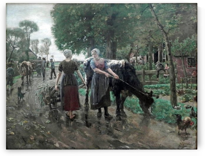 Hollandische Dorfstrase by Max Liebermann