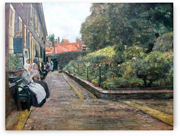 Stevenstift in Leiden by Max Liebermann