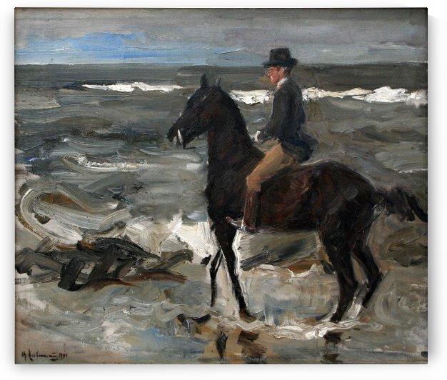 Le Cavalier sur la plage by Max Liebermann