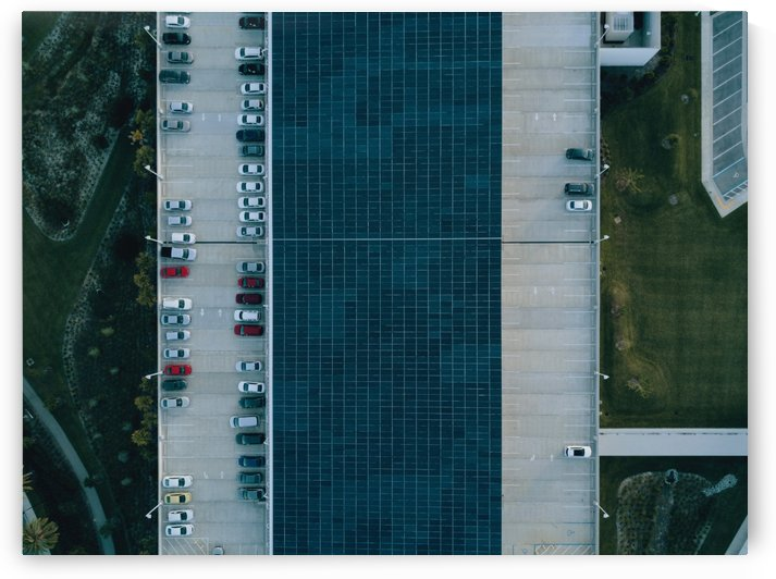 Birds Eye View of Parking Lot by Azlan