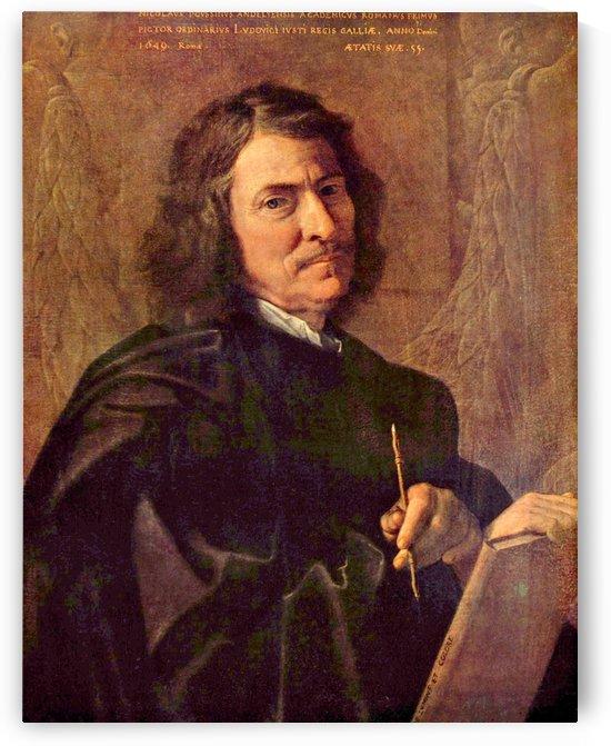 Selbstportrat des Kunstlers by Nicolas Poussin