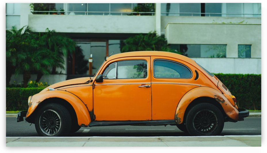 Parked Yellow Coccinelle by GorgeousWorld_Store