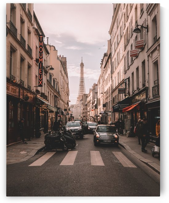 Paris Streets with Eiffel tower by GorgeousWorld_Store