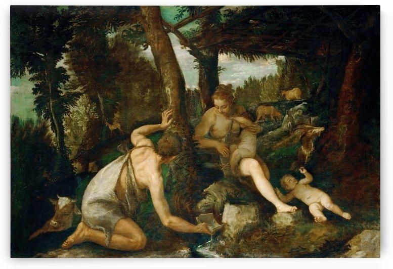 Adamo ed Eva dopo la cacciata dal paradiso by Paolo Veronese