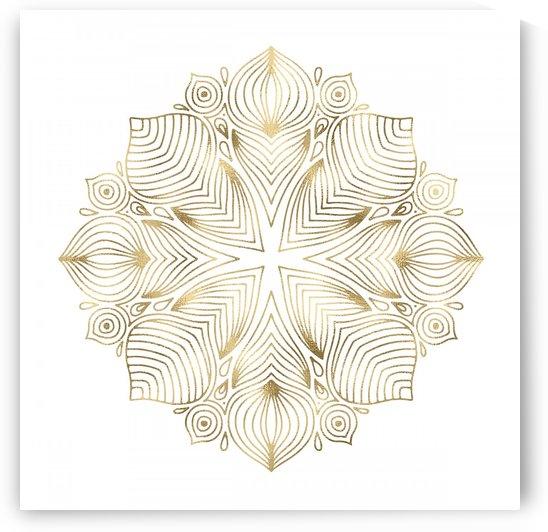 Gold Boho Mandala by Leah McPhail