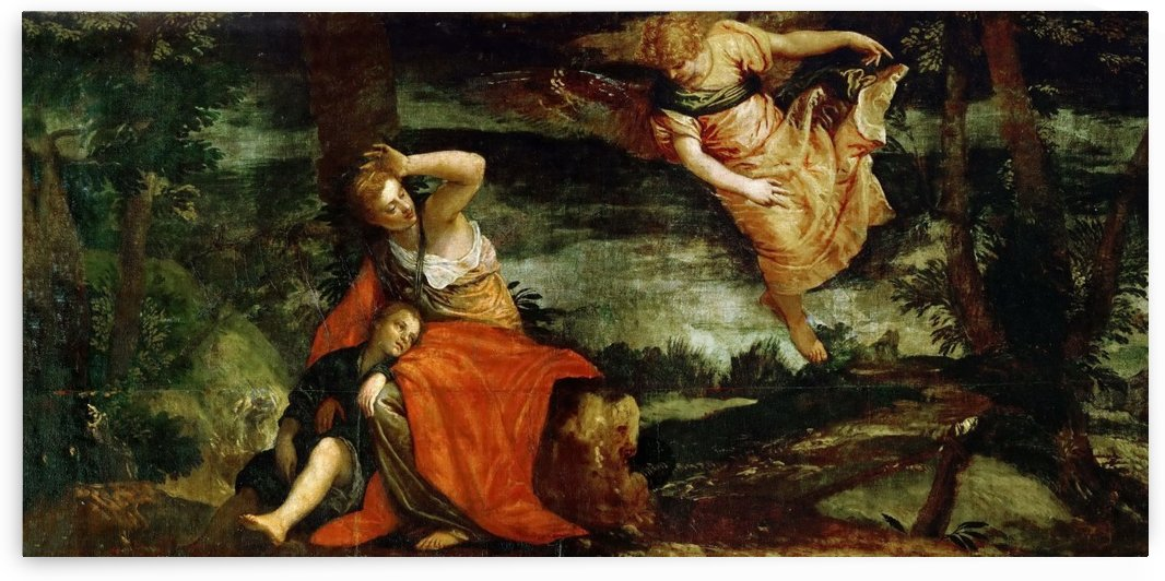Agar e Ismaele nel deserto by Paolo Veronese