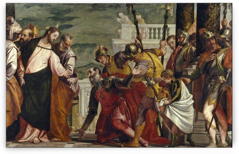 Jesus y el centurion by Paolo Veronese