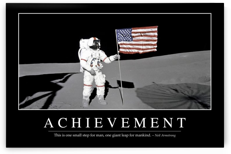Achievement: Inspirational Quote and Motivational Poster by StocktrekImages