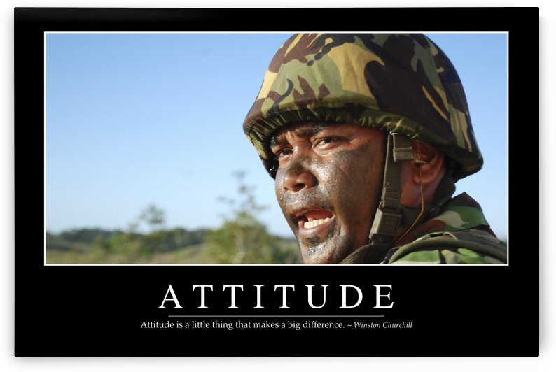 Attitude: Inspirational Quote and Motivational Poster by StocktrekImages