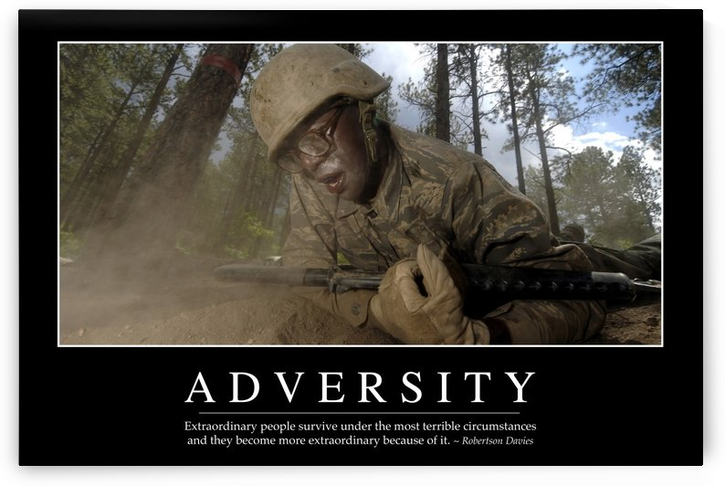 Adversity: Inspirational Quote and Motivational Poster by StocktrekImages