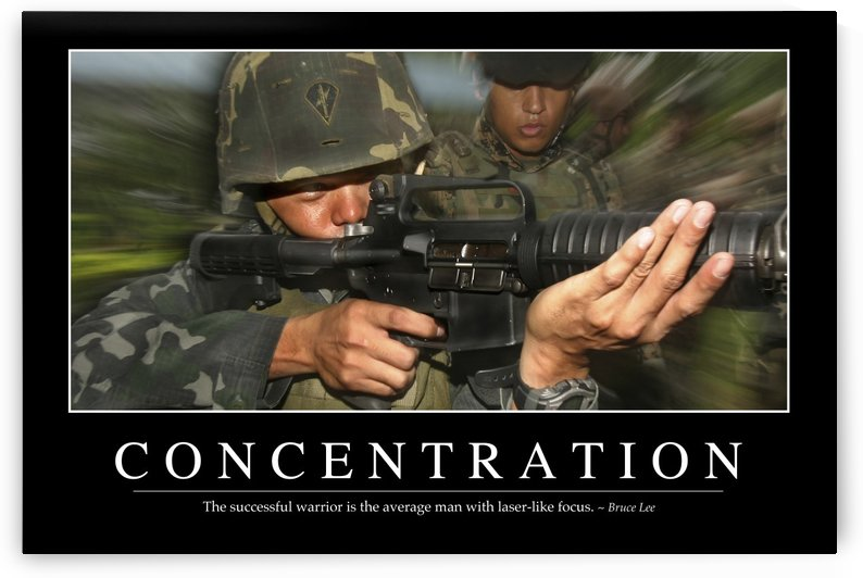Concentration: Inspirational Quote and Motivational Poster by StocktrekImages