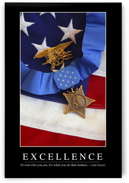 Excellence: Inspirational Quote and Motivational Poster by StocktrekImages