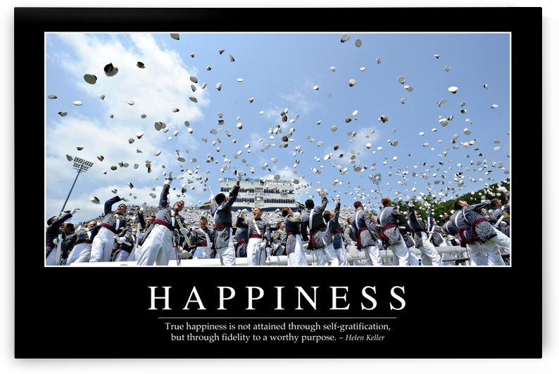 Happiness: Inspirational Quote and Motivational Poster by StocktrekImages